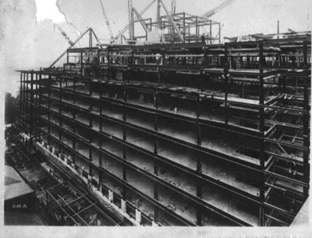 20 October 1931.  Shell Mex House building in progress